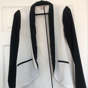 Forever 21 Black Trim White Blazer